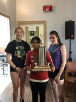 JGS 1st Place Christina Nelson, 2nd Place Sarah Ciere, 3rd Place Makayla Legendre